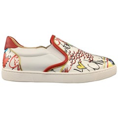 CHRISTIAN LOUBOUTIN Size 9 Patent Leather Scribble Masteralta Sneakers