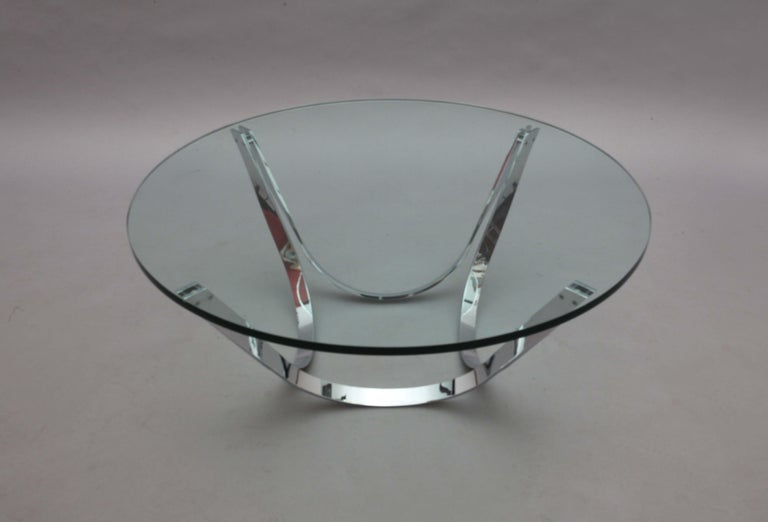 Chrome Coffee Table Designed Roland Schmidt, Germany, 1960 In Good Condition For Sale In Vienna, Vienna