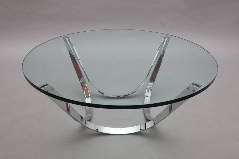 20th Century Chrome Coffee Table Designed Roland Schmidt, Germany, 1960 For Sale