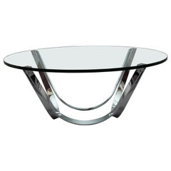 Chrome Coffee Table Designed Roland Schmidt, Germany, 1960