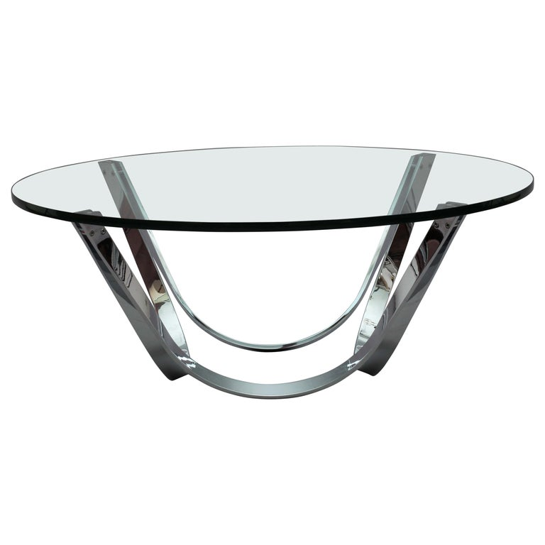 Chrome Coffee Table Designed Roland Schmidt, Germany, 1960 For Sale