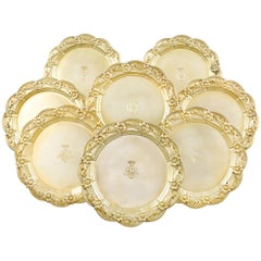 Chrysanthemum Silver-Gilt Dinner Plates by Tiffany & Co.