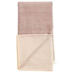 CINO Merino Handloom Throw / Blanket In Soft Neutral Shades of Cream & Brown