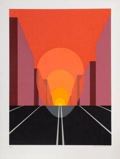 Highway, Pop Art Screenprint