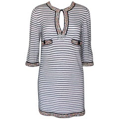 Classy Embellished Chanel Beaded Cashmere Blend Tunic Kaftan Dress