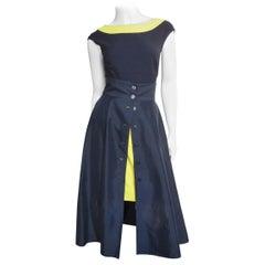 Claude Montana Full Skirt, Pencil Skirt and Bodysuit Set