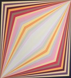 Claudia Fauth Acrylic on Canvas Geometric Composition