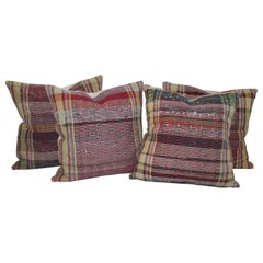 Collection of Rag Rug Pillows, Four