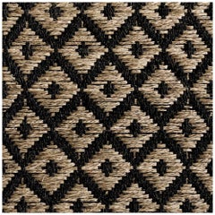 Colombian Crin Rugs, 5' x 7' Area Rug, Handwoven Horsehair and Jute Diamonds