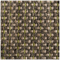 Colombian Crin 9' x 12' Area Rug, Handwoven Horsehair, Jute and Avocado Leather
