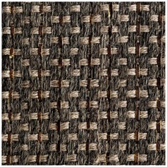 Colombian Crin 9 x 12 Area Rug,  Handwoven Horsehair, Jute and Coffee Leather