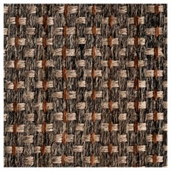 Colombian Crin 8' x 10' Area Rug, Horsehair, Jute and Dulce de Leche Leather