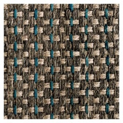Colombian Crin 5' x 7' Area Rug, Handwoven Horsehair, Jute and Ocean Leather