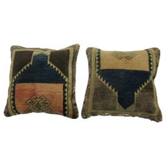 Complementary Set of 20th Century Turkish Rug Pillows