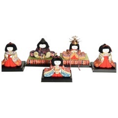 Complete Set of Fifteen Japanese Hinaningyo Dolls