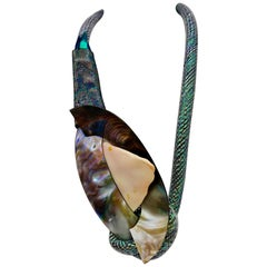 Conch shell and iridescent Camberlainia eco - luxe Pendant ,by Sylvia Gottwald
