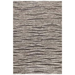 """Contemporary Area Rug in Natural Brown, Handwoven, Wool, """"Landscape"""""""