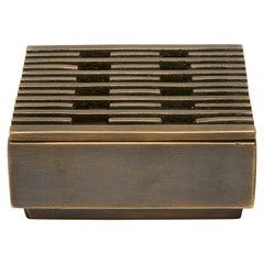 Contemporary Bronze Incense Box, Lines by Reda Amalou, 2020