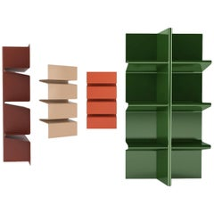 Contemporary Cioccolata Bookshelf in Aluminium by Altreforme