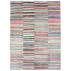 Contemporary Handmade Turkish Flat-Weave Room Size Kilim Carpet