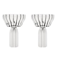 EU Clients Contemporary Margot Champagne Coupe Glasses Handcrafted, in Stock