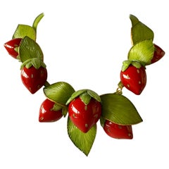 Contemporary  Strawberry Statement Necklace