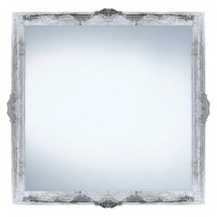 Contemporary Wall Mirror Clear Resine Baroque Frame