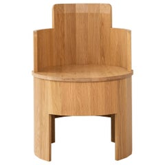Contemporary White Oak Wood Cooperage Dining Chair by Fort Standard