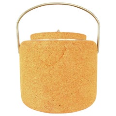 Cork Modernist Ice Bucket by Signe Persson-Melin for Boda Nova, Sweden, 1970s
