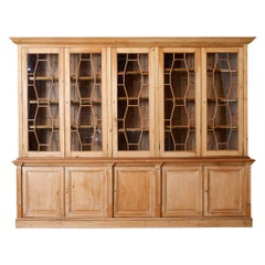 Country English Pine Library Bookcase Cabinet