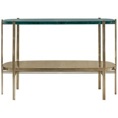 Craig Console in Polished Brass and Marble