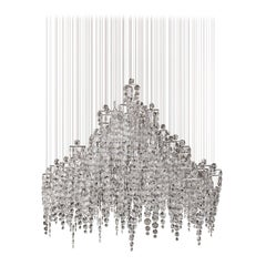 Crystal Candelabra, Contemporary Chandelier Sculpture Eva Menz