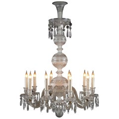 Crystal Cut Chandelier Attributed to Baccarat