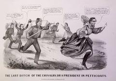 Capture of Jefferson Davis in Petticoats