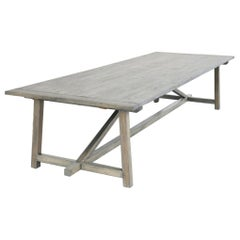 Custom Expandable Dining Table Made from Reclaimed Pine