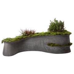 """OPIARY Concrete Barchan Planter (L36"""" W20"""" H9 """")"""