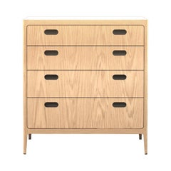 Customizable Oak Dresser from Munson Furniture with Alabaster Resin Top