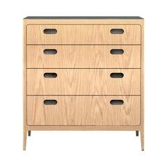 Customizable Oak Dresser from Munson Furniture with Silver Oxide Brass Top