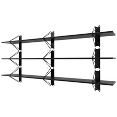 Customizable Set of 3 Strut Shelves from Souda, Black, Made to Order