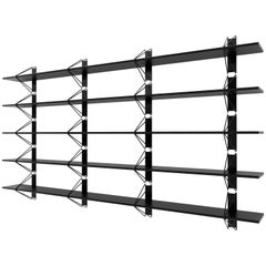 Customizable Set of 5 Strut Shelves from Souda, Black, Extra long, Made to Order