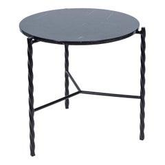 Customizable Von Iron Side Table from Souda, Nero Marquina, Floor Model