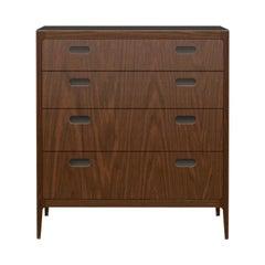 Customizable Walnut Dresser with Blackened Brass Top from Munson Furniture