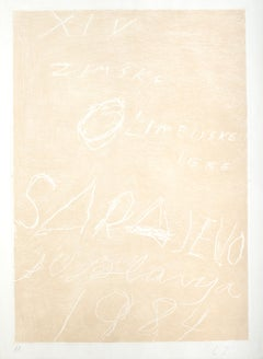 Sarajevo, Winter Olympics - Rare Artist Proof Before the Color -Cy Twombly- 1984