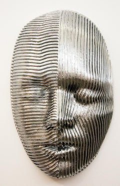 Dichotomy - Large Polished Aluminum Wall Sculpture