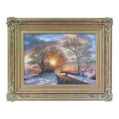 Daniel Van der Putten Oil Painting Irish Landscape Sunset County Mayo Ireland