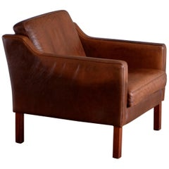 Danish Easy Chair by Henning Jensen Møbler, 1970s