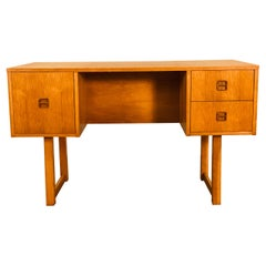 Danish Style Oakwood Sled Leg Executive Desk