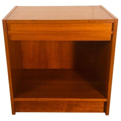 Danish Teak Single-Drawer Nightstand