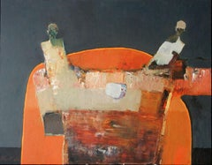 Two at Orange Table