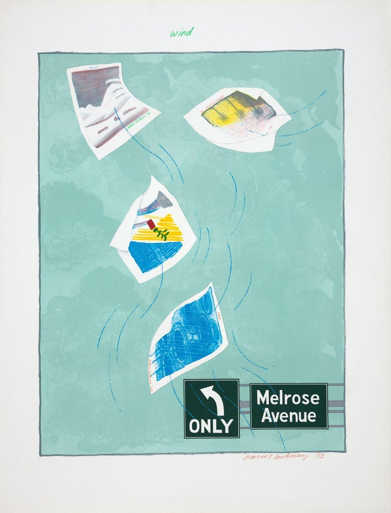 Wind - Print by David Hockney